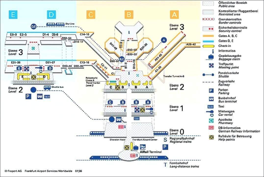 Frankfurt Airport Terminal-Karte