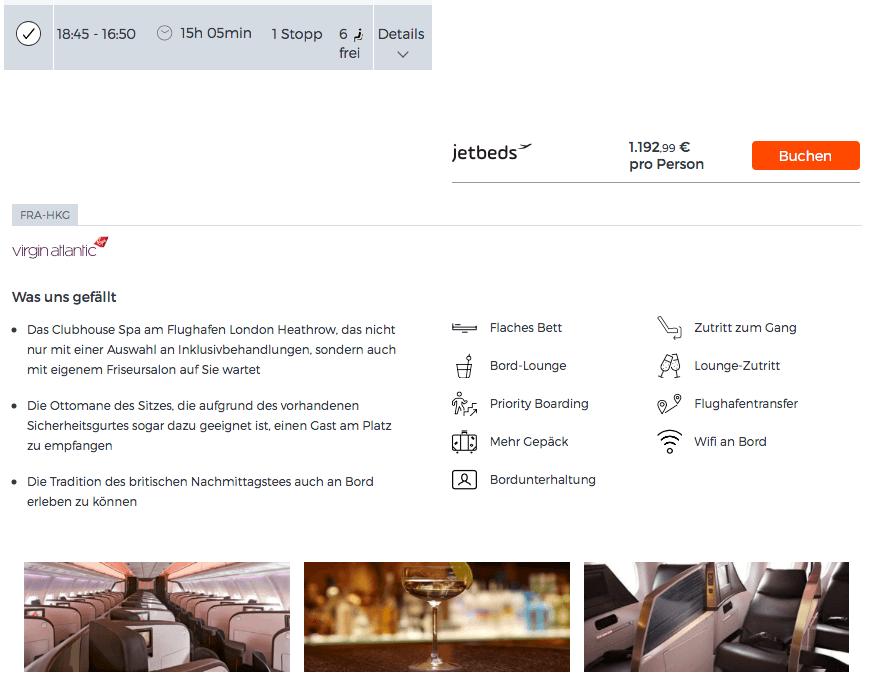 Günstige Business Class Flüge nach Hong Kong