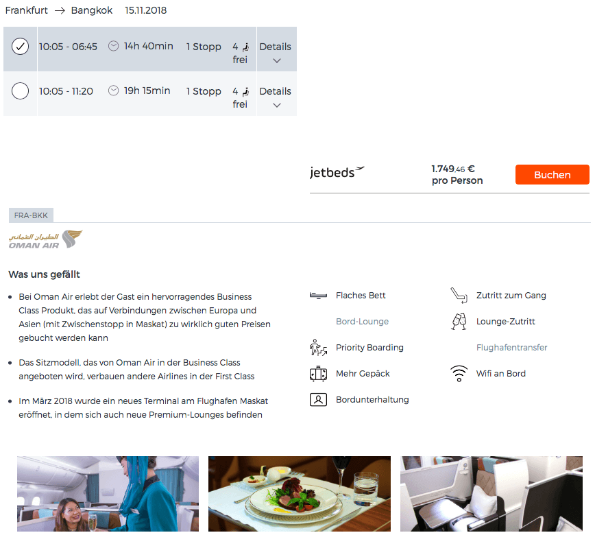 Jetbeds.com Business Class Deals