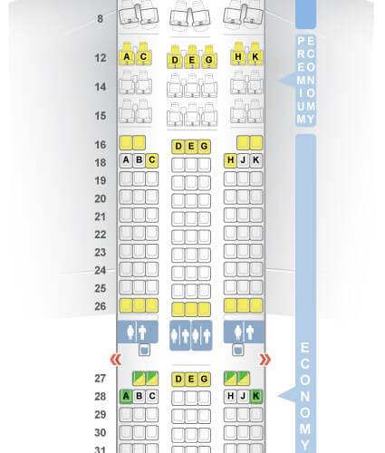 Lufthansa_Airbus_A350 Sitzplätze