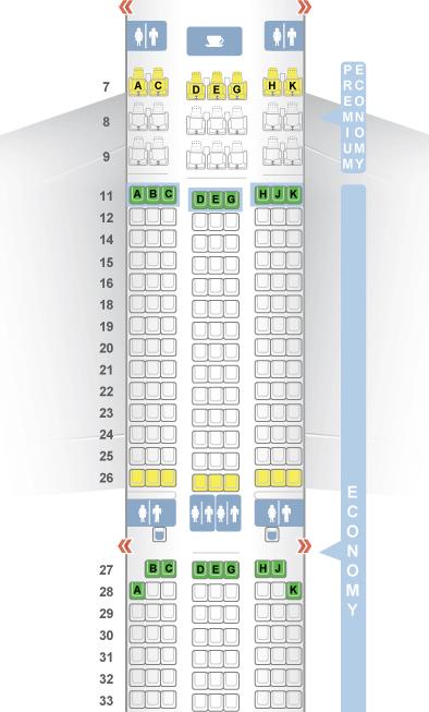 Sitzplatzauswahl Langstreckenflug