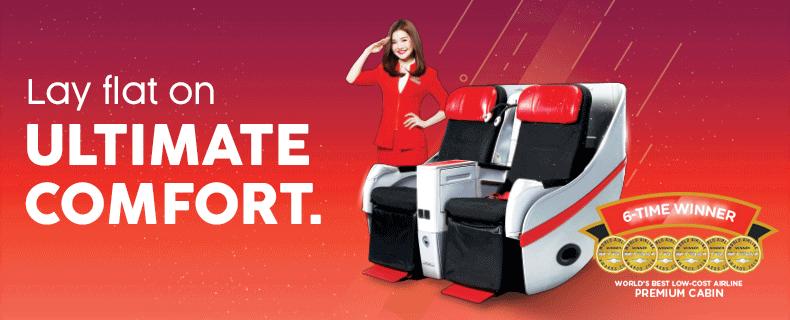 AirAsia Lay Flat Seat
