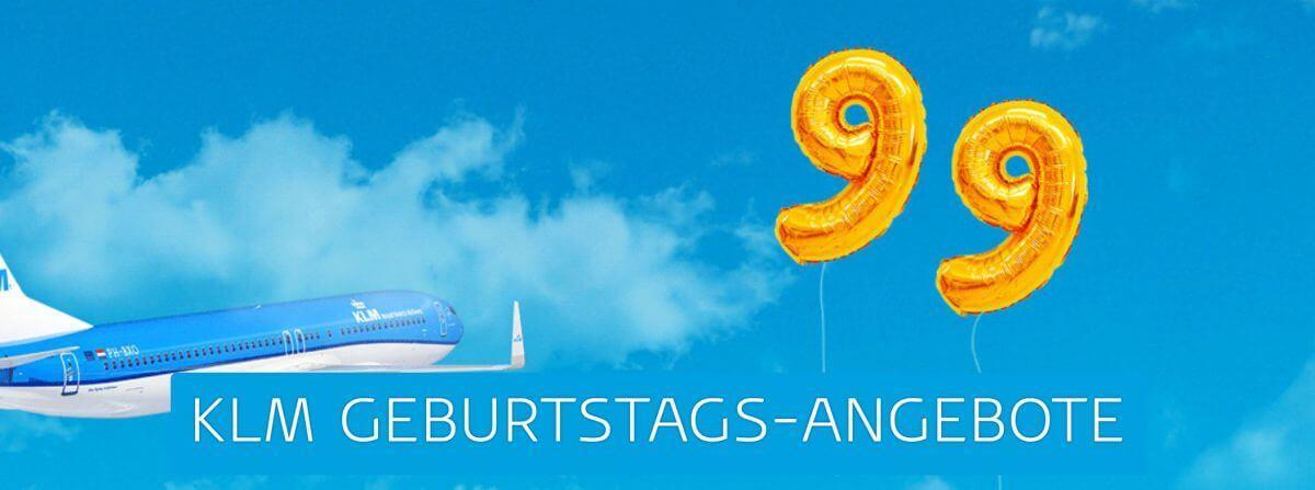 KLM Geburtstagsangebote 99 Jahre KLM