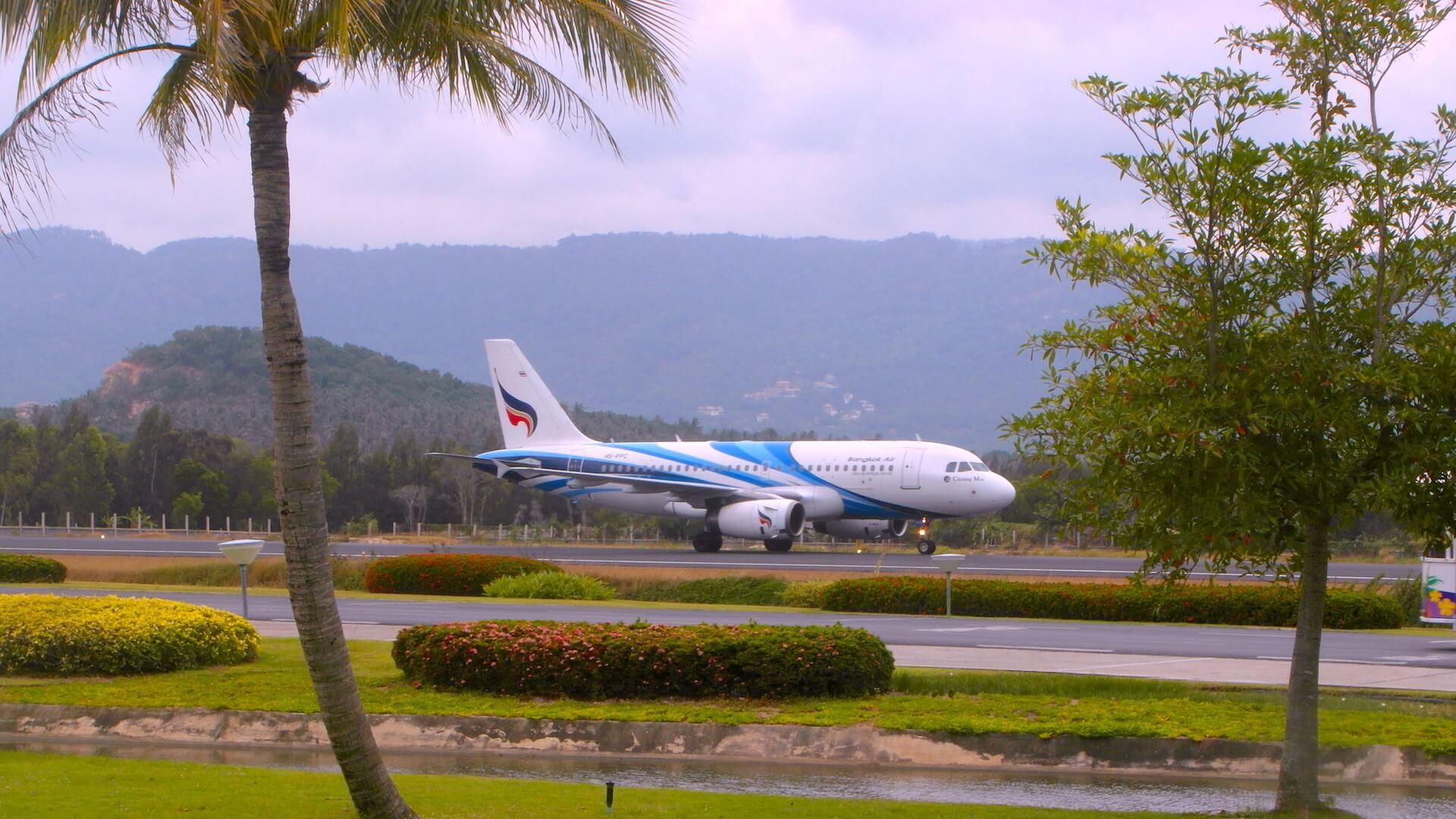 Koh Samui Airport Bangkok Airways A319