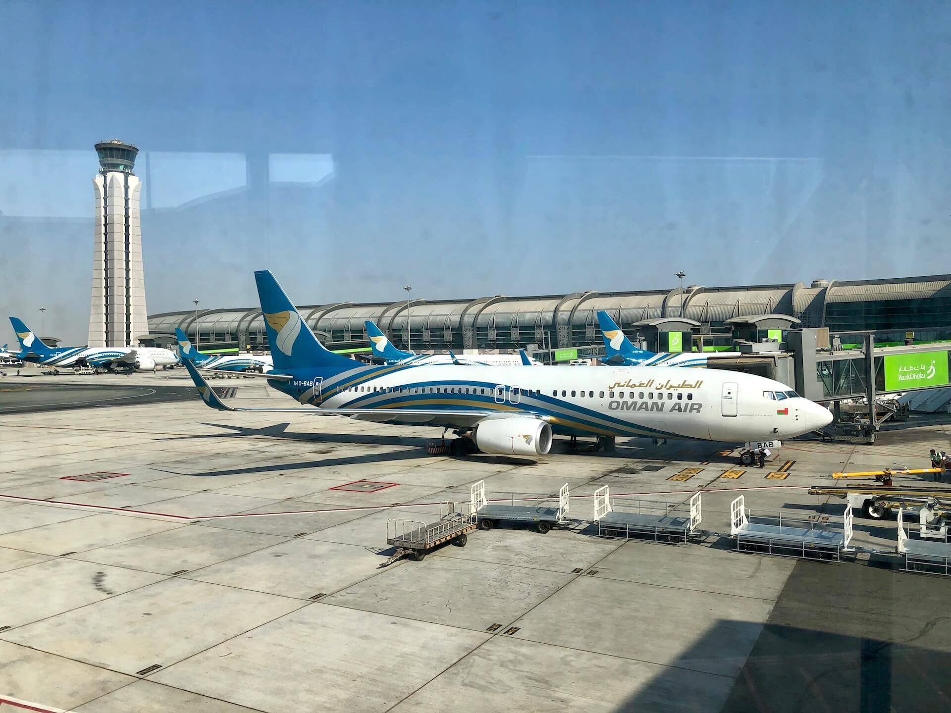 Oman Air Drehkreuz Mascat