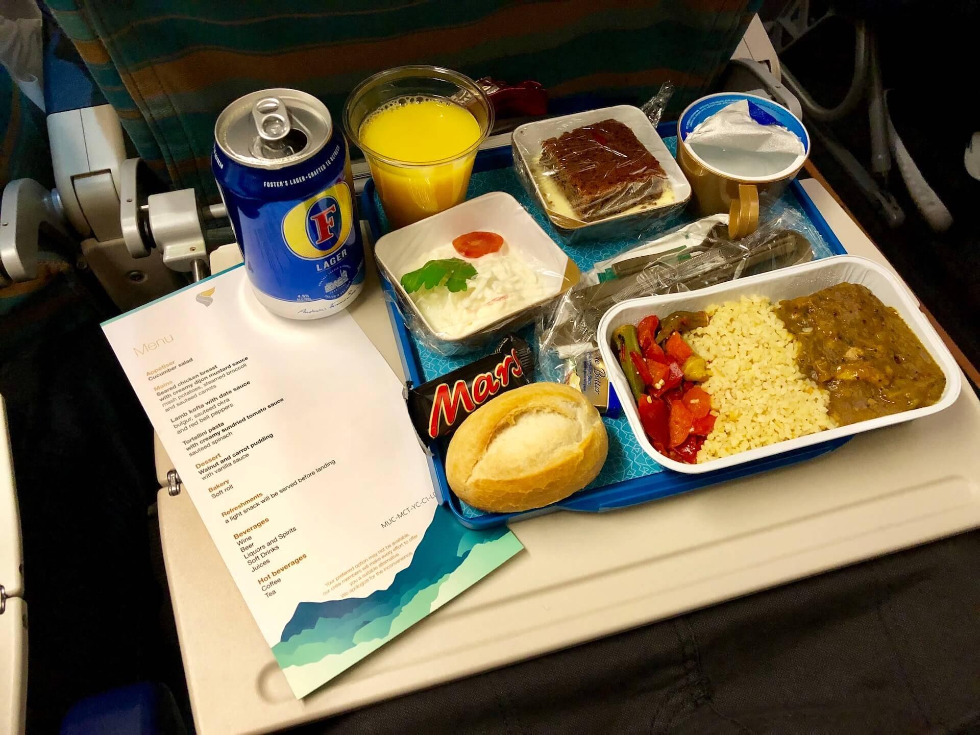 Oman Air Economy Class Essen