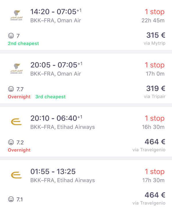 Oman Air Flüge