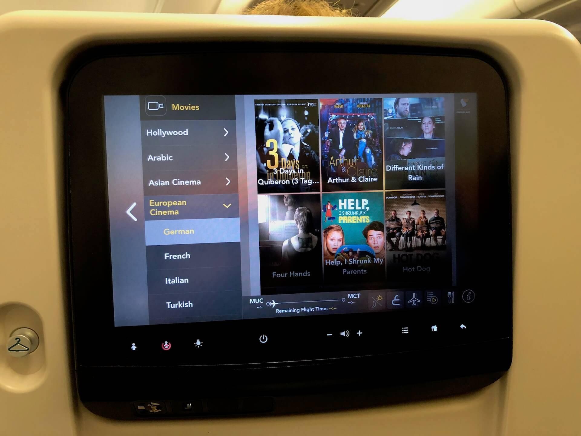 Oman Air Inflight Entertainment