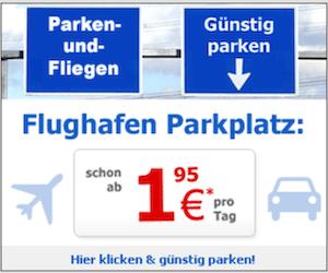 Parken am Flughafen Banner