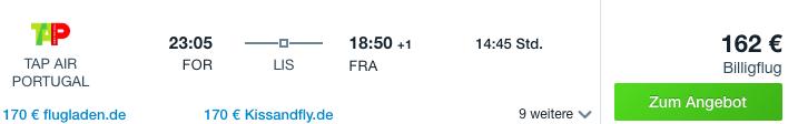 Fortaleza nach Frankfurt Flugangebot