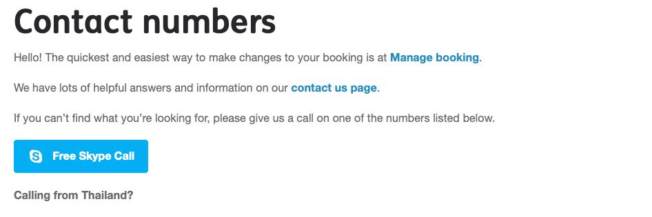 JetStar Hotline und Skype