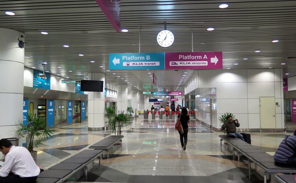 KLIA Ekspres am Flughafen Kuala Lumpur