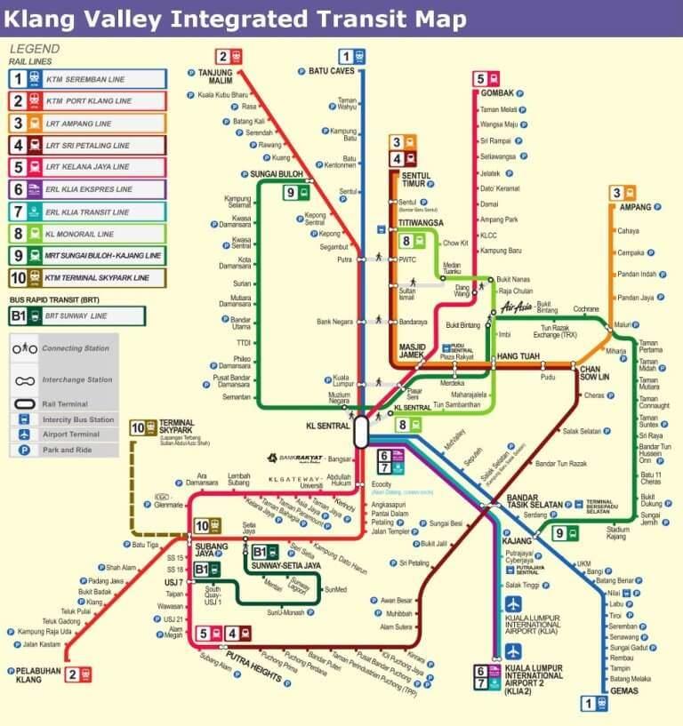 Kuala Lumpur Public Transport Karte