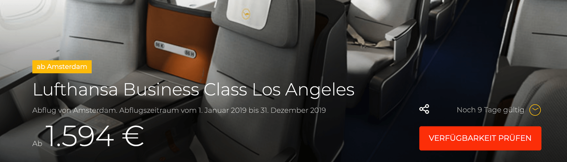 Lufthansa Business Class nach Los Angeles 1594€