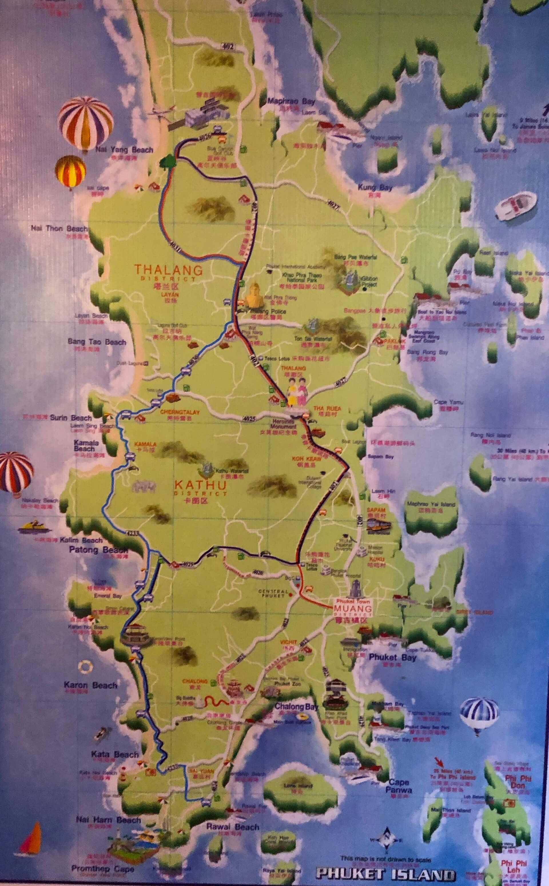Phuket Express Airport Bus Karte