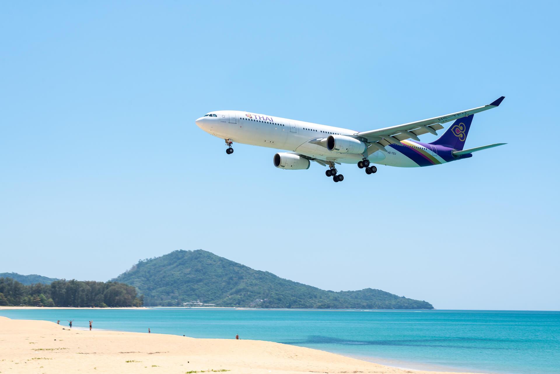Phuket Flughafen Landeanflug