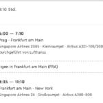 Singapore Airlines Prag - New York One Way Flugzeiten