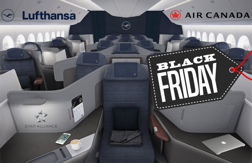 Star Alliance Black Friday Sale 2018 - Air Canada Lufthansa nach USA