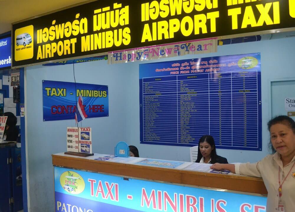 Taxi & Minibus Service Flughafen Phuket - Patong, Karon, Kata, Rawai, Phuket Town