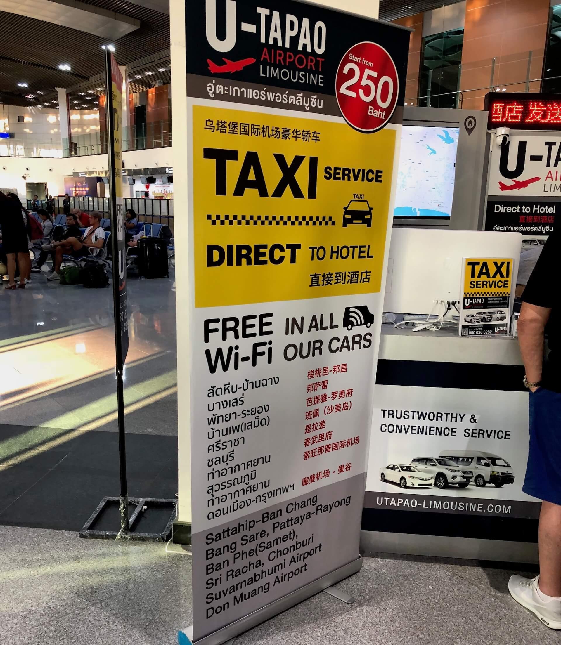 Taxi Service Flughafen Pattaya