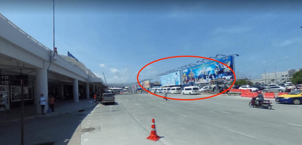 Treffpunkt Abfahrt Minivan & Taxi Flughafen Phuket Domestic