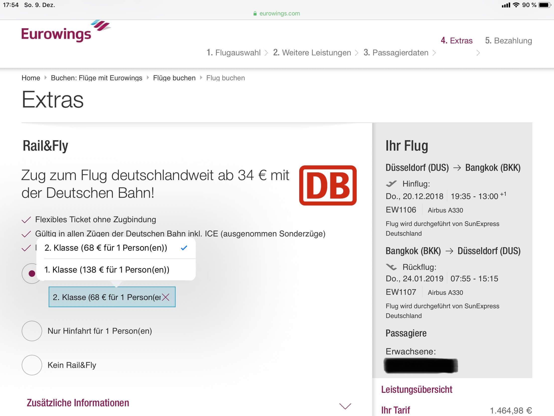 Eurowings Rail Fly Buchung Preise Tipps Airgurude