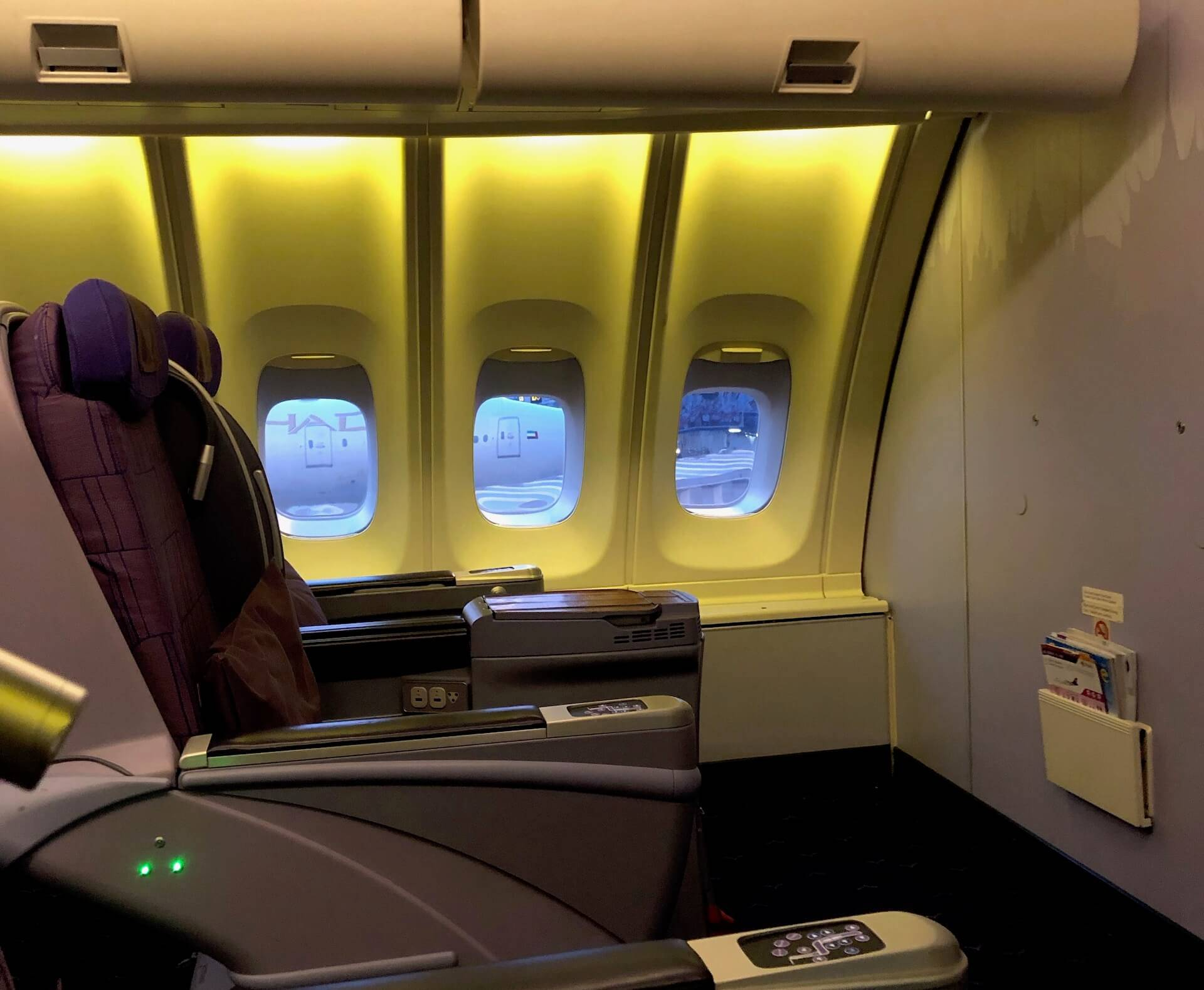 Thai Airways 747 Business Class Oberdeck Sitz