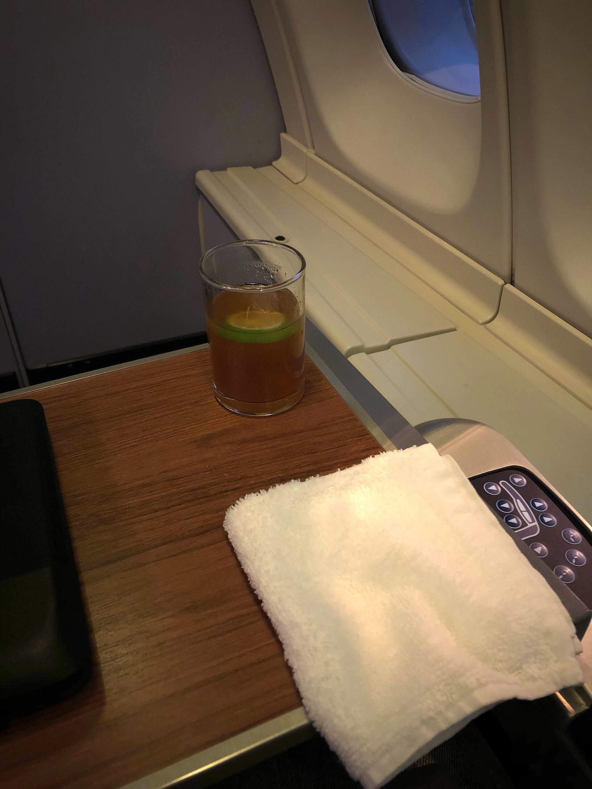 Thai Airways Royal Silk Willkommens-Drink