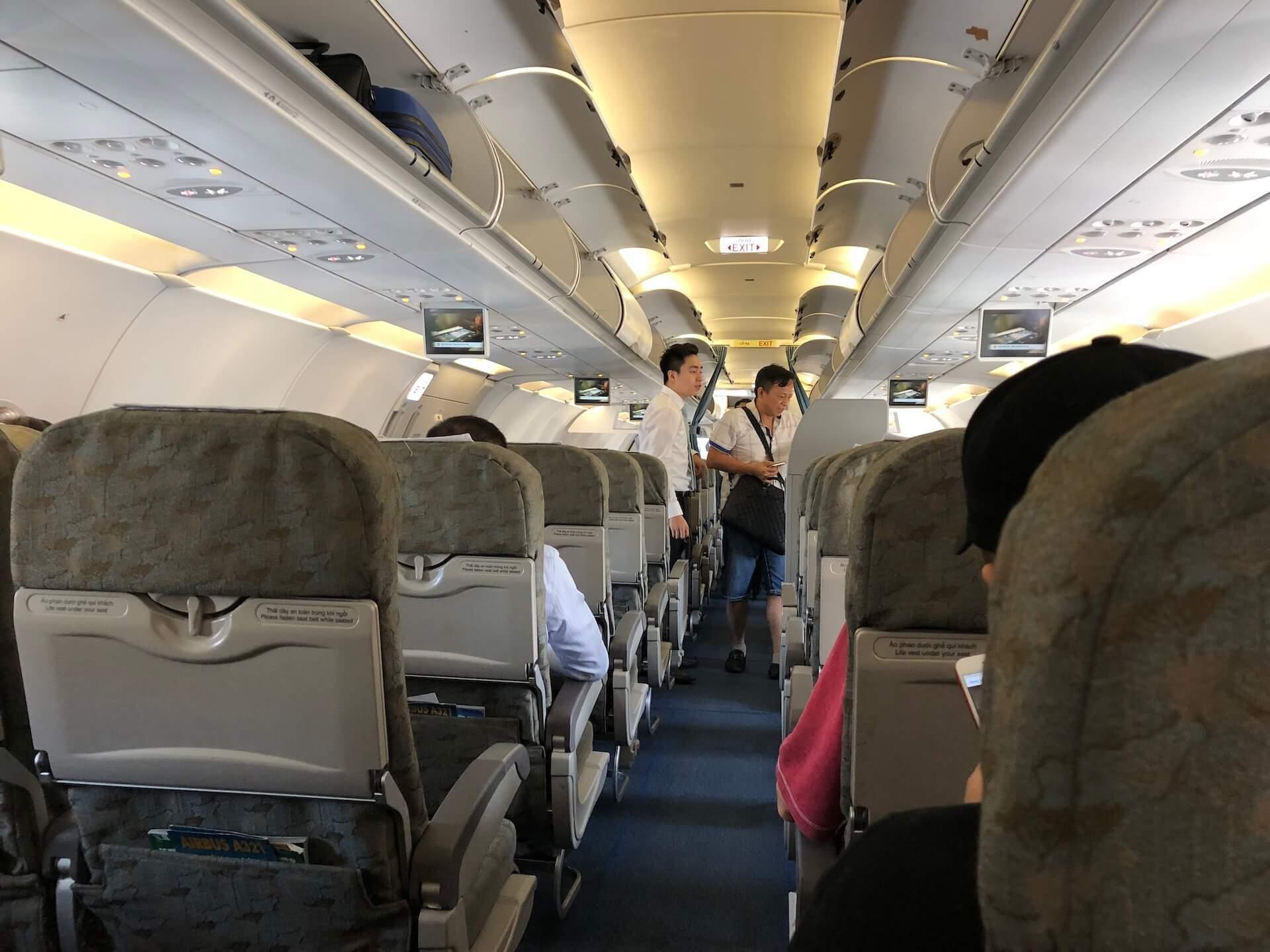 Vietnam Airlines Economy Class Airbus A321 Kabine
