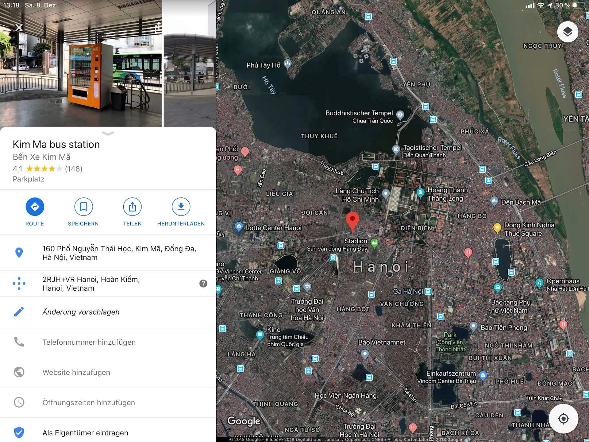 Hanoi Kim Ma Bus Station - Flughafen Bus