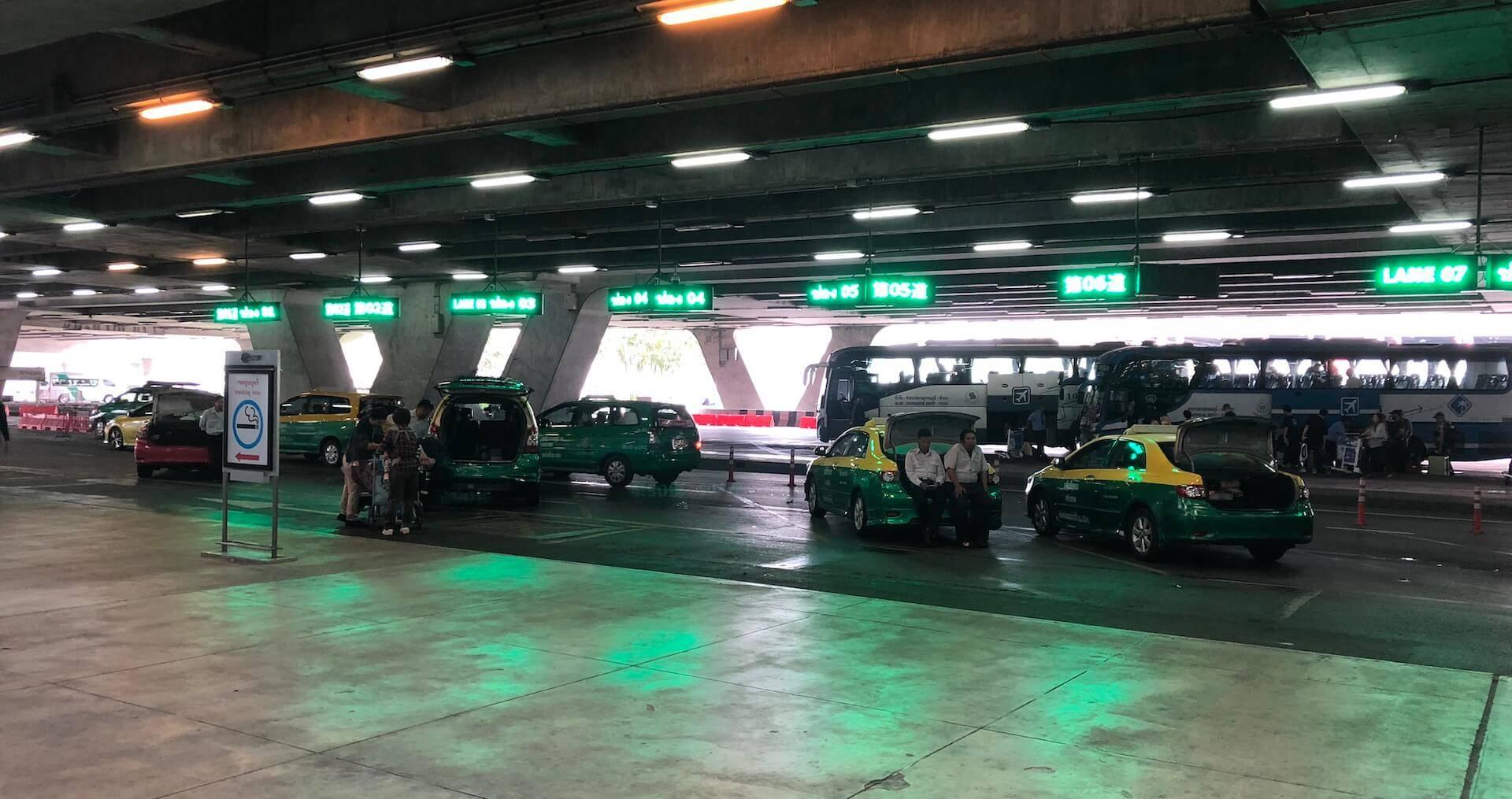 Meter Taxi Stand Bangkok Suvarnabhumi Airport