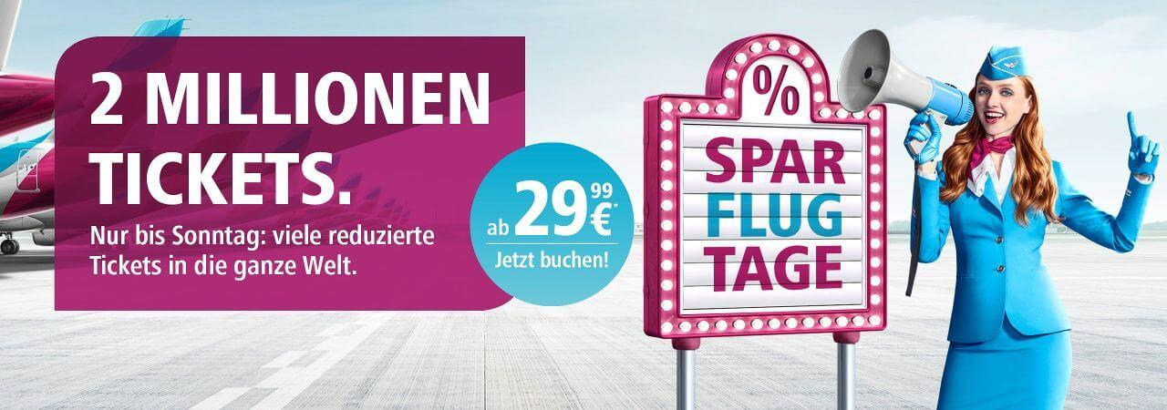 Eurowings 2 Mio Ticket 2019