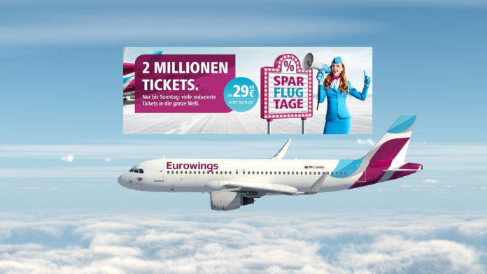 Eurowings Tickets 2019 2 Mio Spartickets