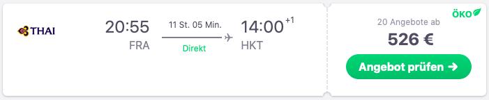 Flüge Frankfurt nach Phuket