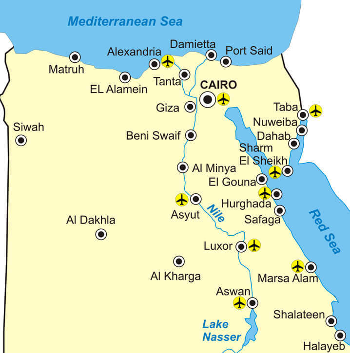 Flughäfen in Ägypten