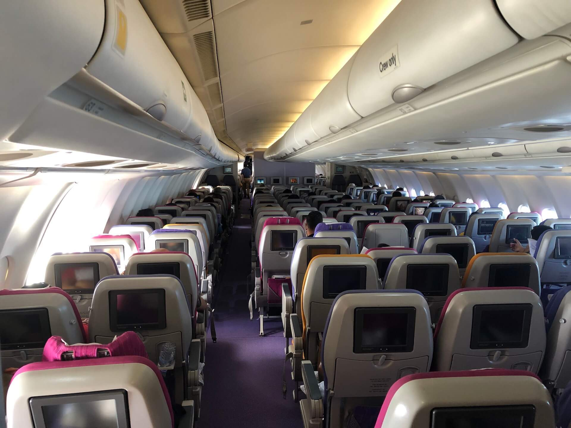 Thai Airways A330 Kabinenambiente