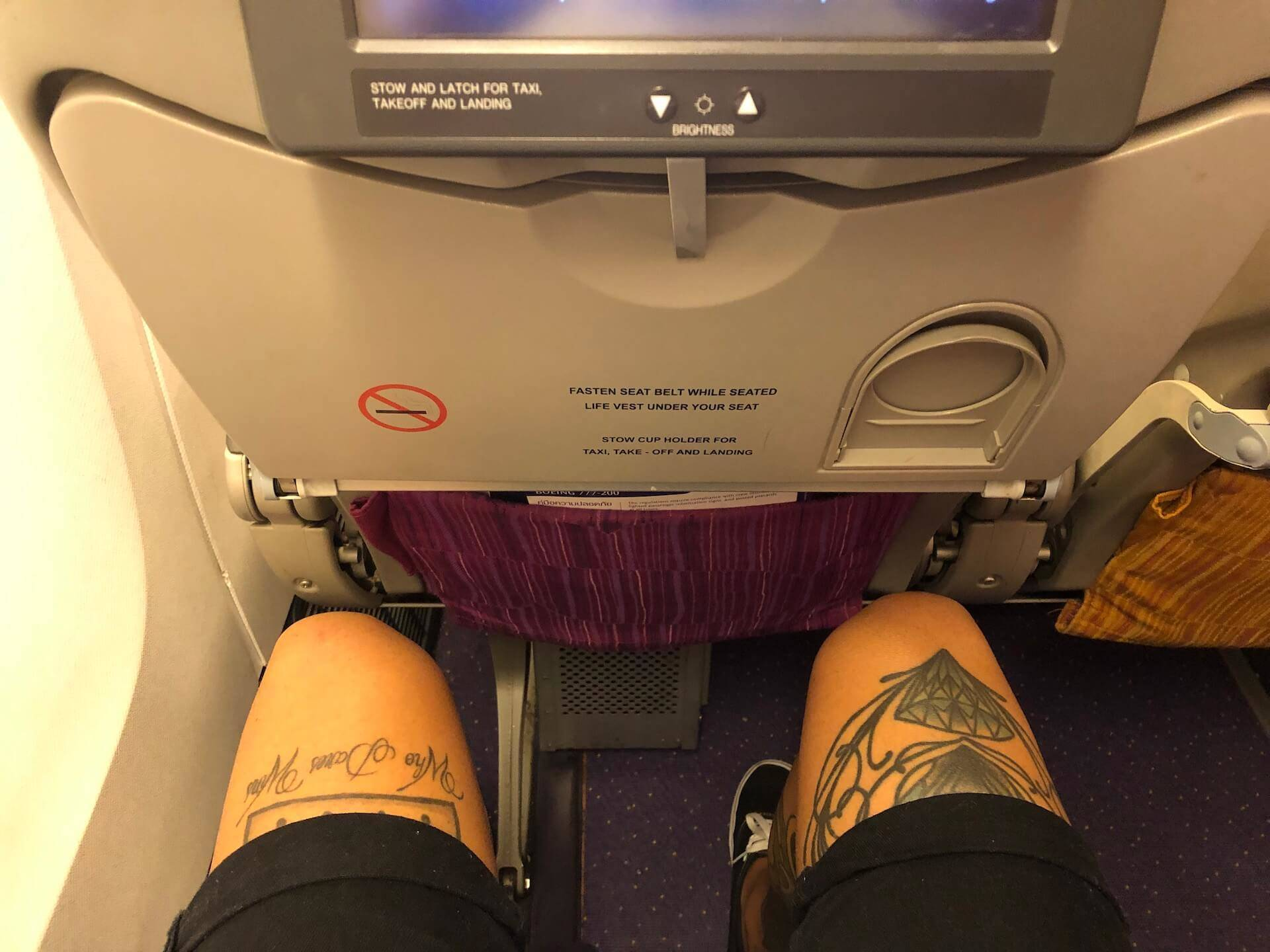 Thai Airways Boeing 777-200 Economy Class Beinfreiheit