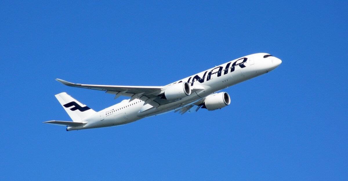 Finnair Airbus A350 hebt von Krabi ab