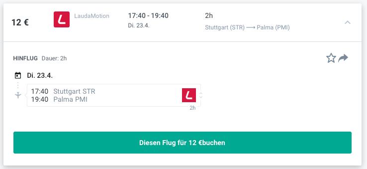 Preise für Flüge nach Mallorca