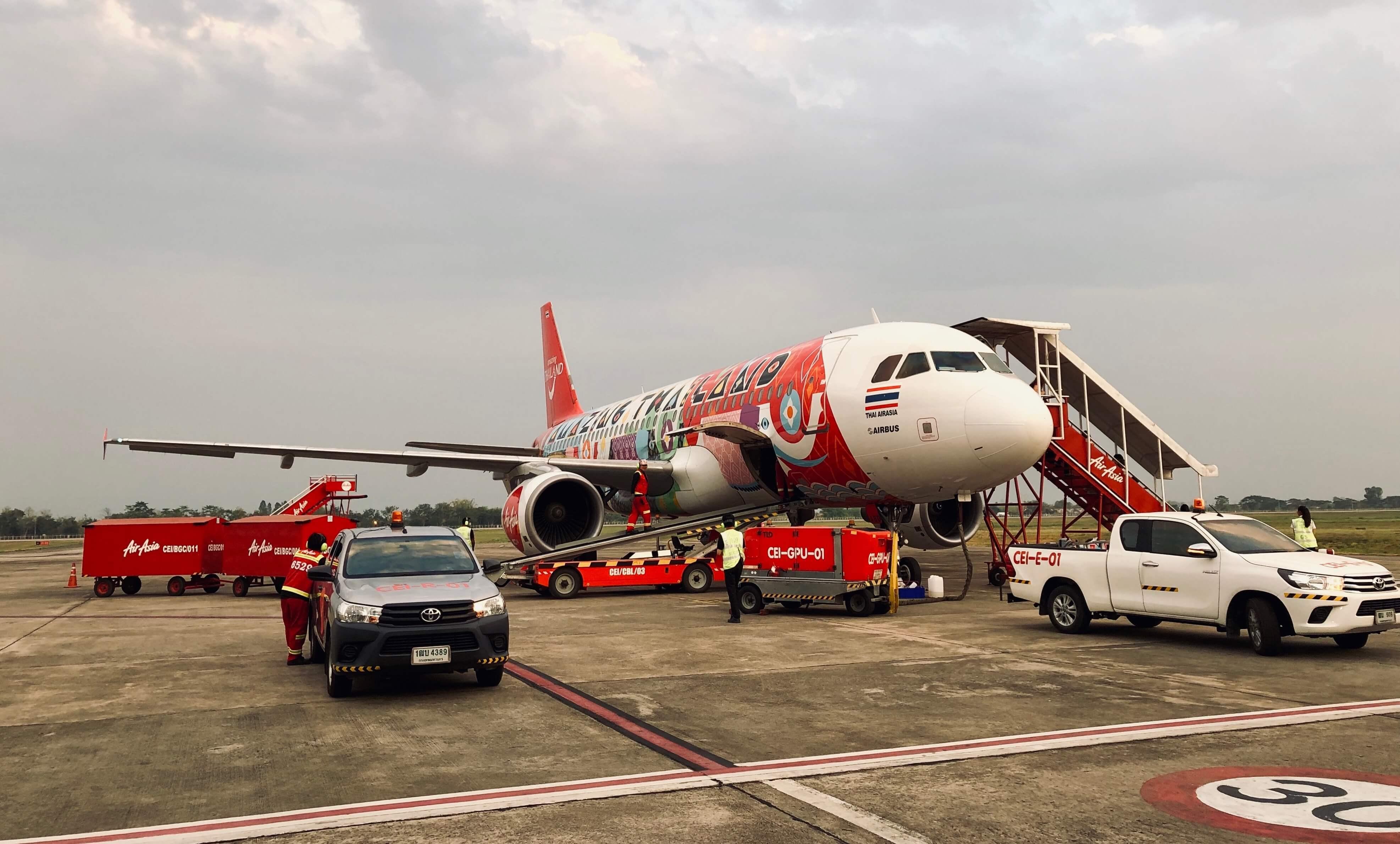 AirAsia A320 am Chiang Rai Airport