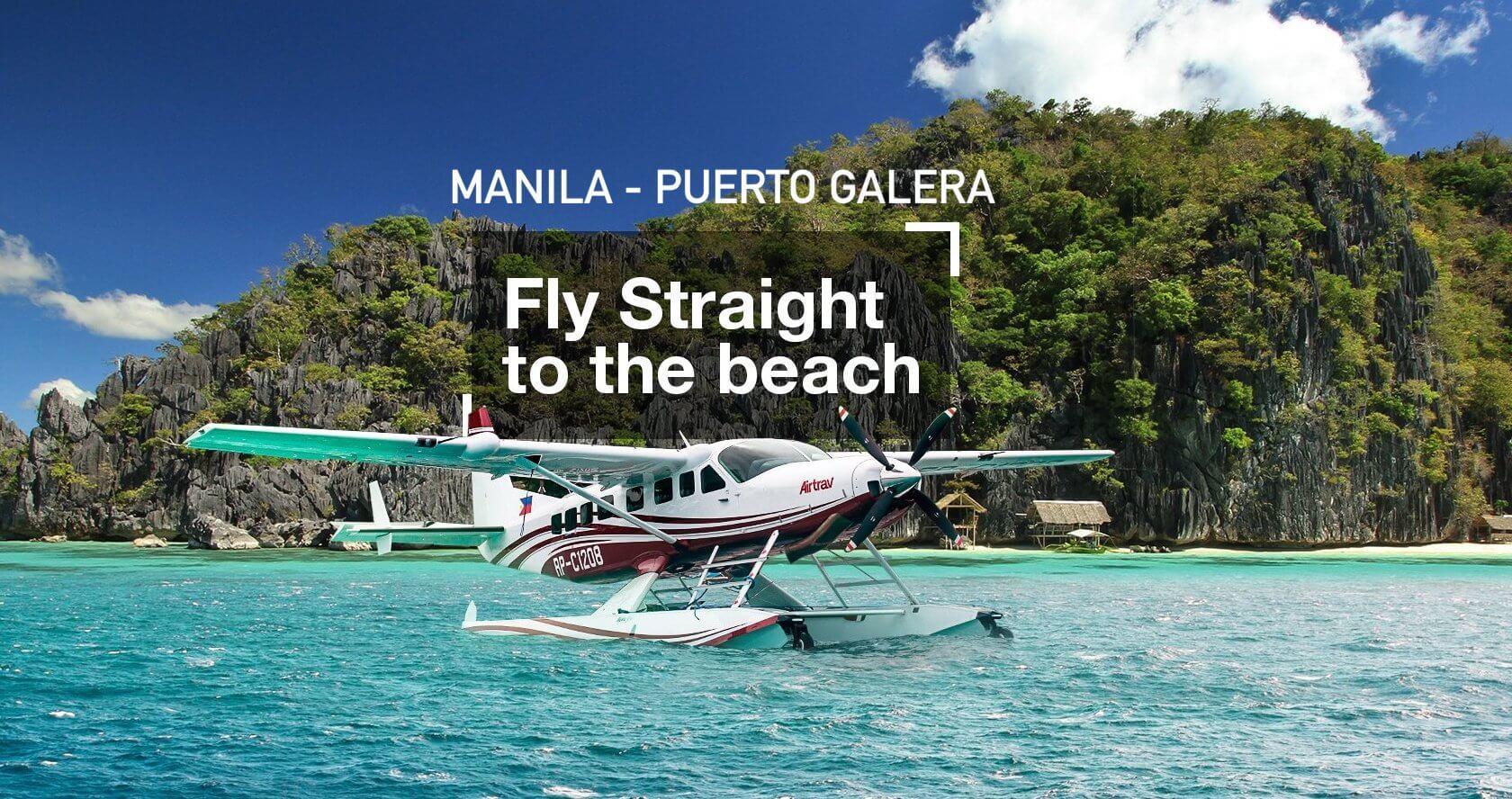 AirTrav Wasserflugzeug Flug Manila - Puerto Galera