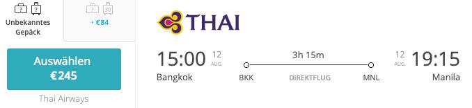 Bangkok Manila Thai Airways Airguru Flugsuche