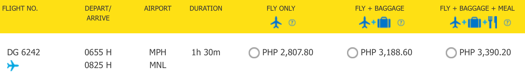 Cebu Pacific Gepäckregeln