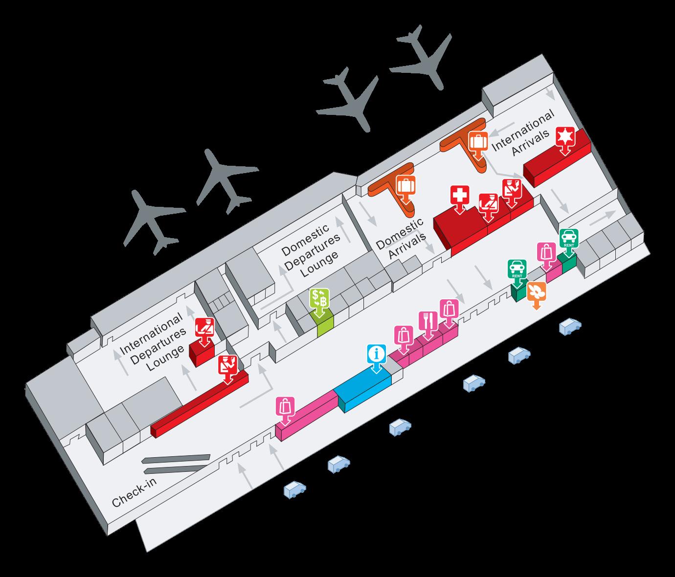 Chiang Rai Airport Map