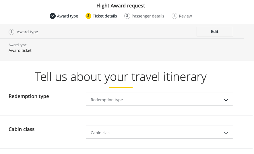 Flight Award Request Form Asia Miles