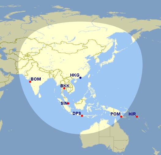 Great Circle Map Beispiel