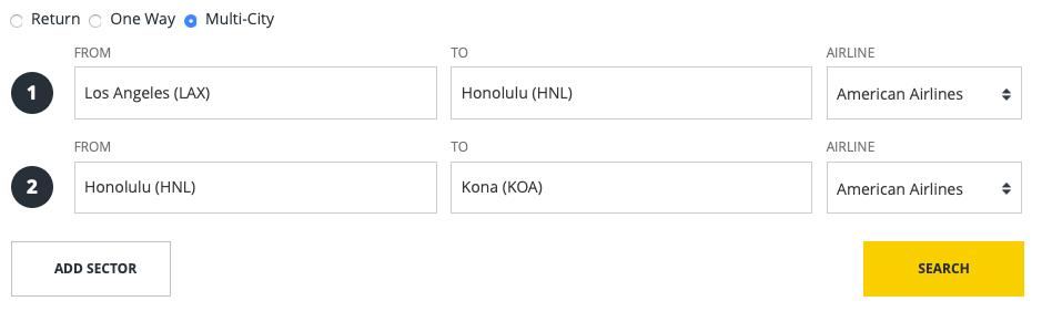Hawaii Trip American Airlines für 15.000 Asia Miles