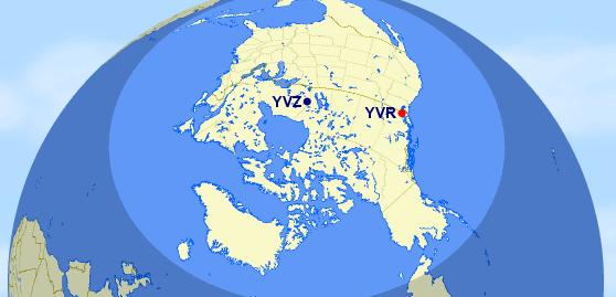 Kanada 2750 Meilen Kreis