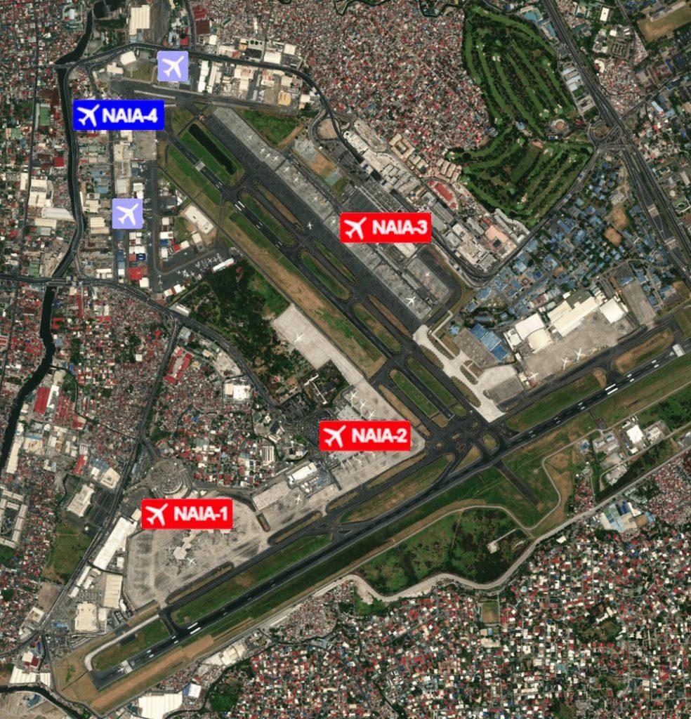 Manila Airport Terminal Lageplan