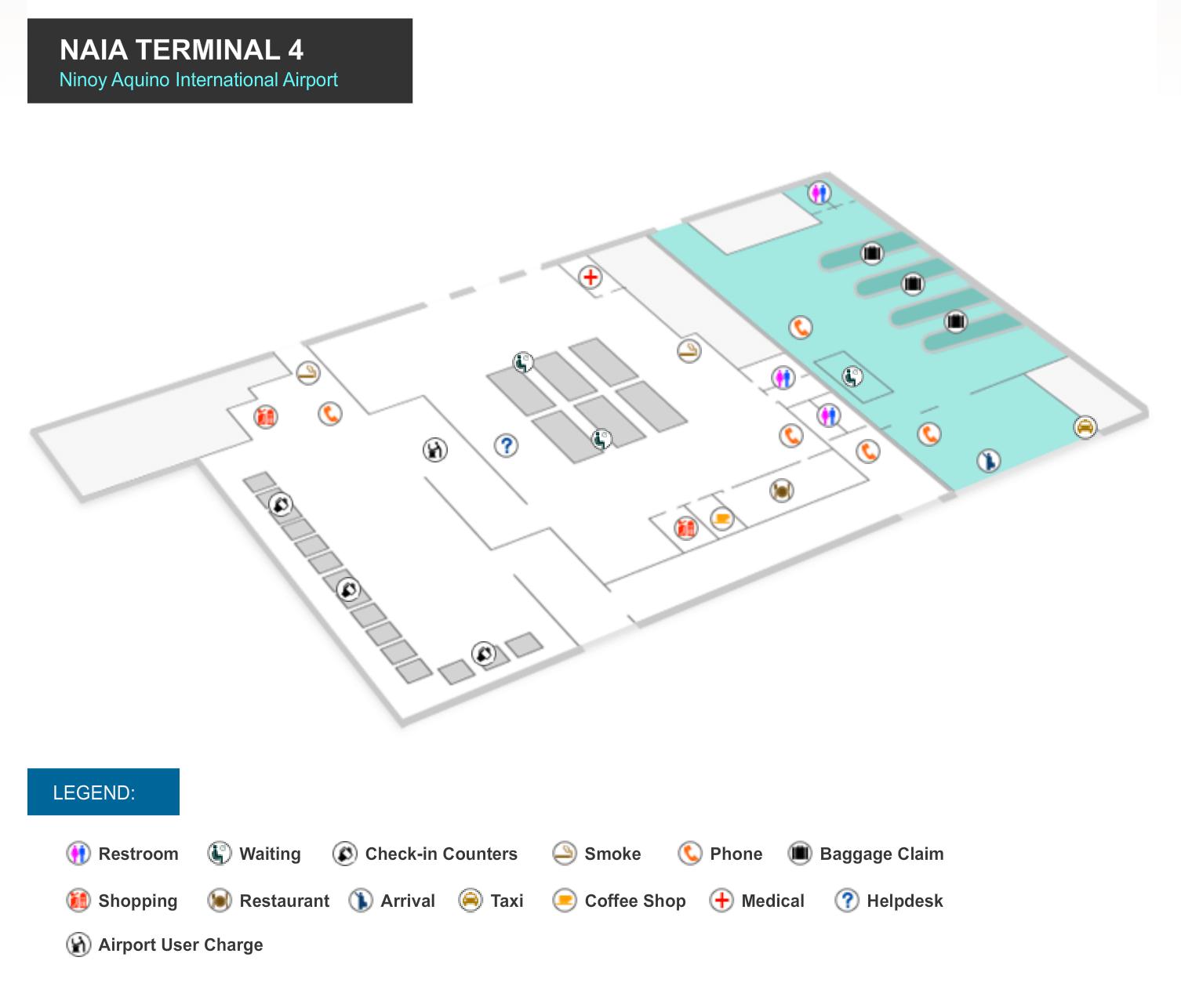 Manila Flughafen Terminal 4 Karte NAIA 4